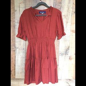 Rust-color dress